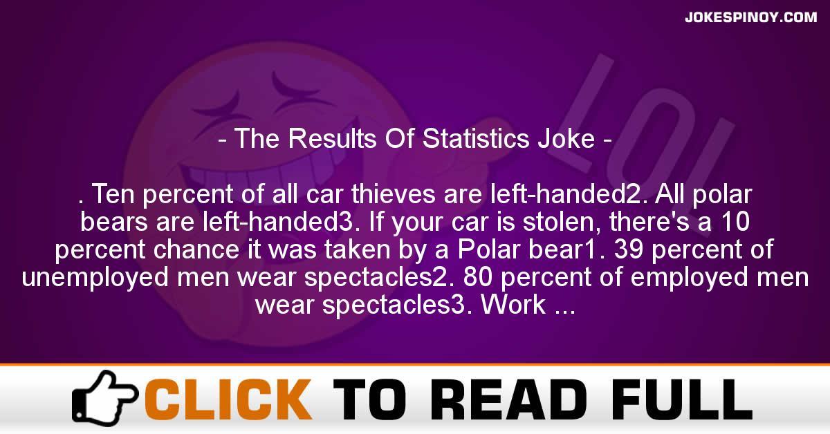 The Results Of Statistics Joke