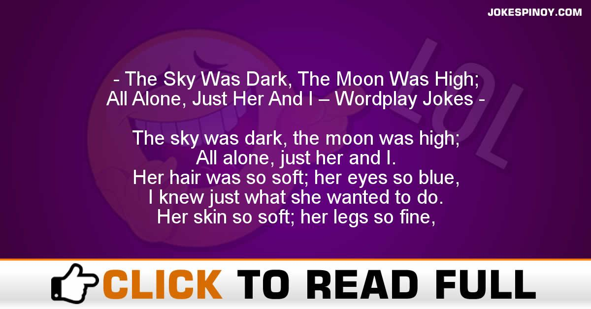 The Sky Was Dark, The Moon Was High; All Alone, Just Her And I – Wordplay Jokes