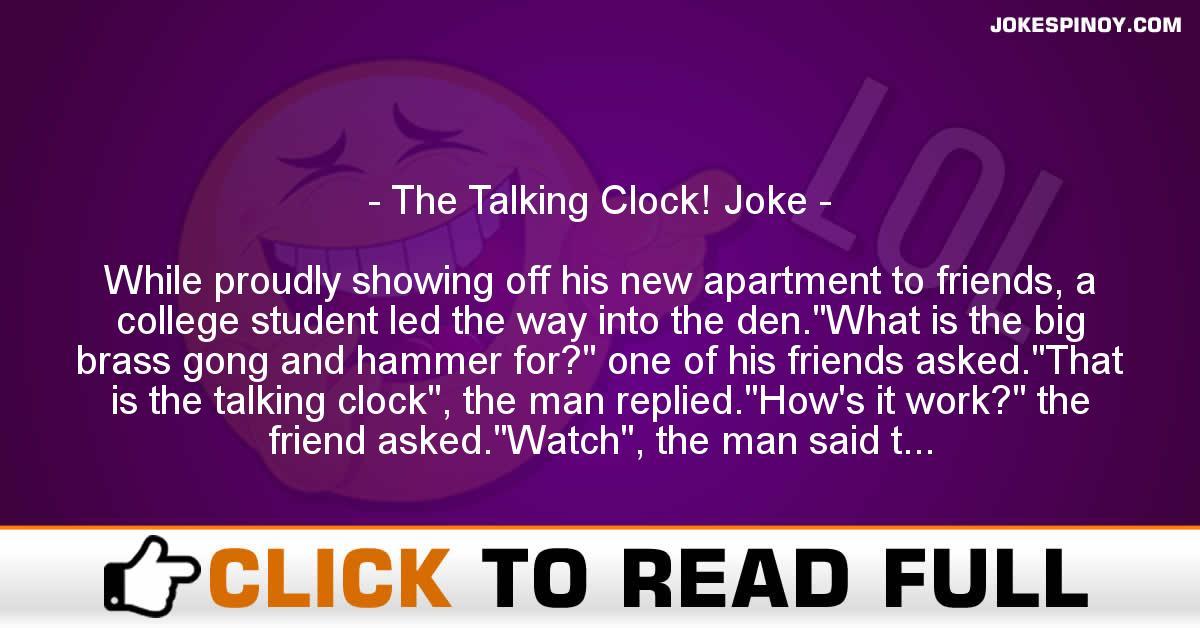 The Talking Clock! Joke