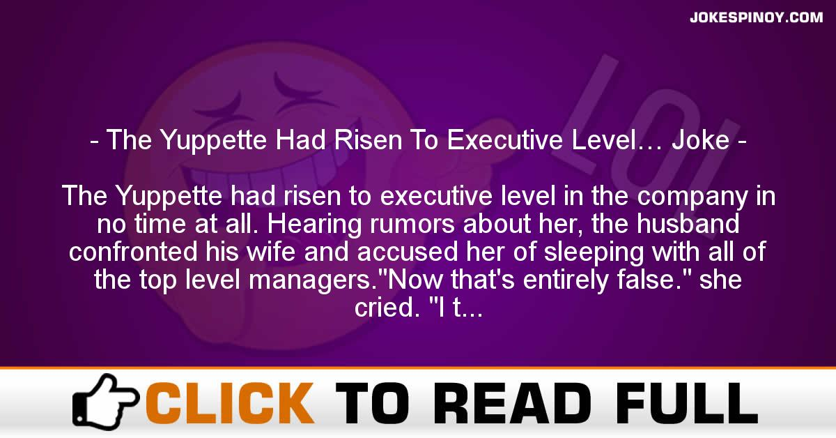 The Yuppette Had Risen To Executive Level… Joke