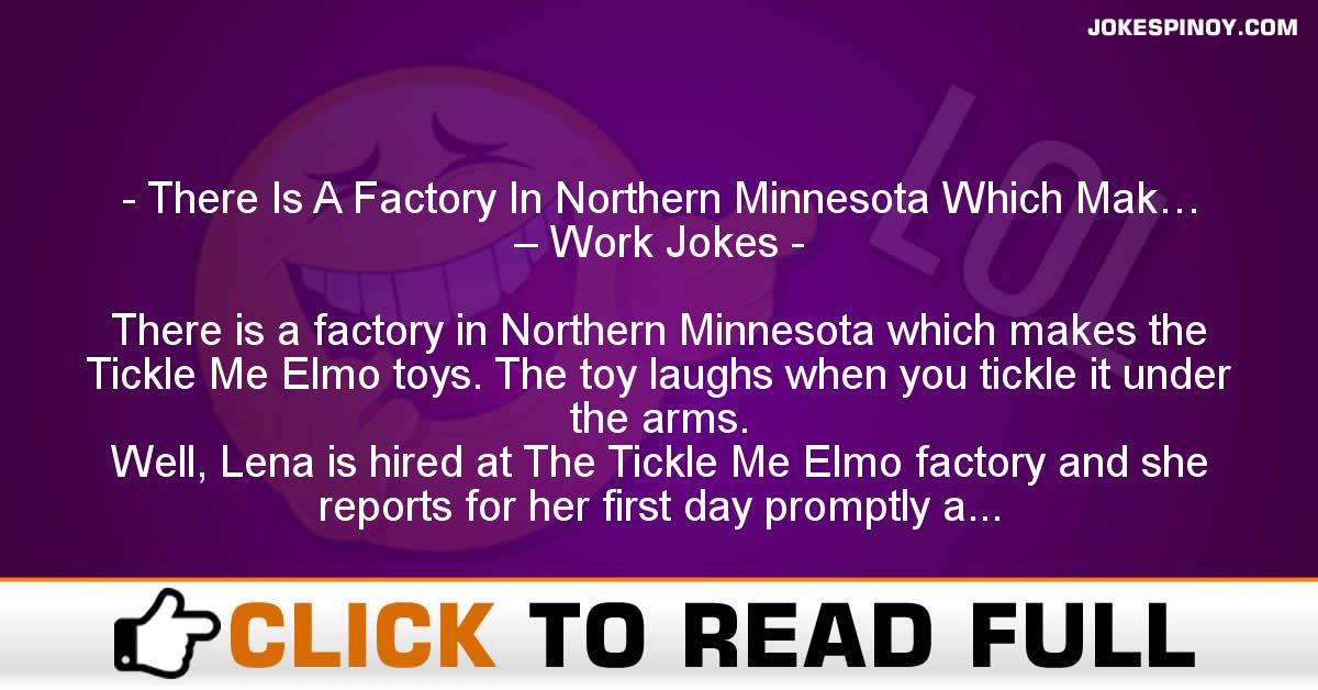 There Is A Factory In Northern Minnesota Which Mak… – Work Jokes