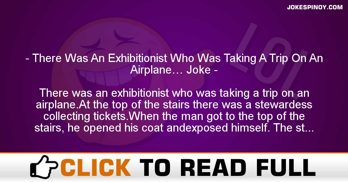 There Was An Exhibitionist Who Was Taking A Trip On An Airplane… Joke