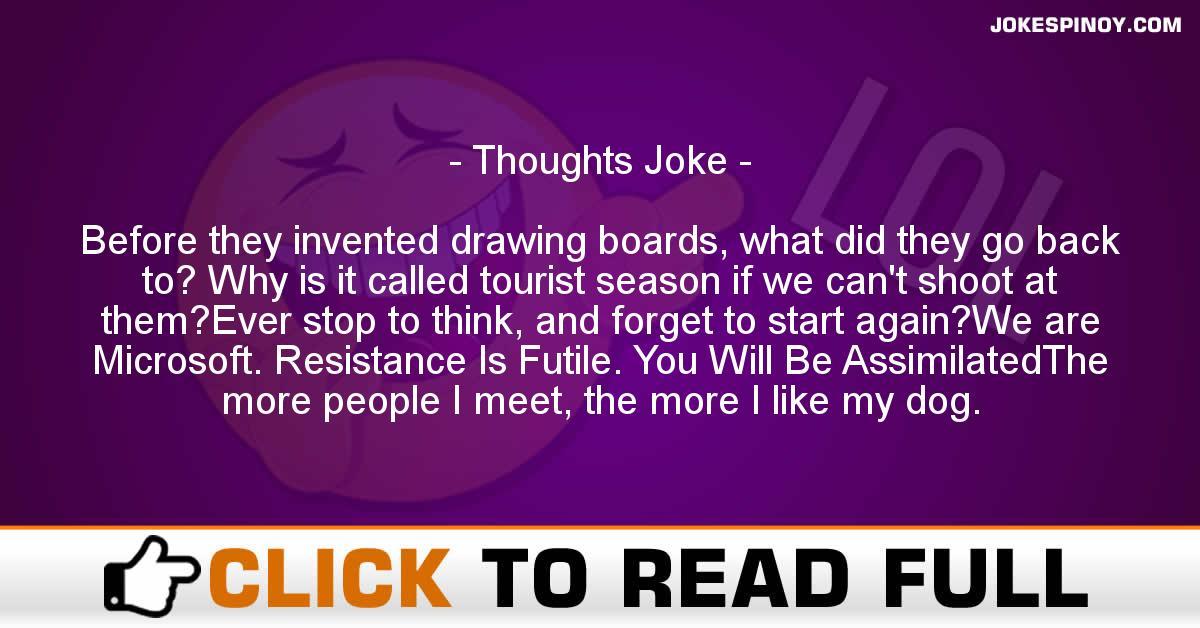 Thoughts Joke