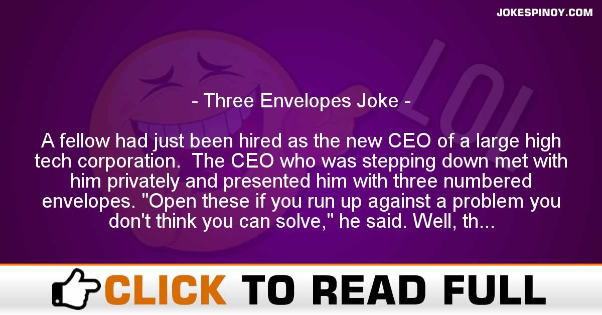 Three Envelopes Joke