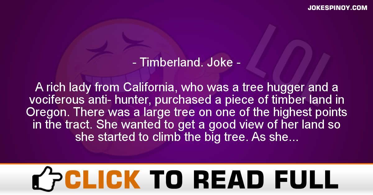 Timberland. Joke
