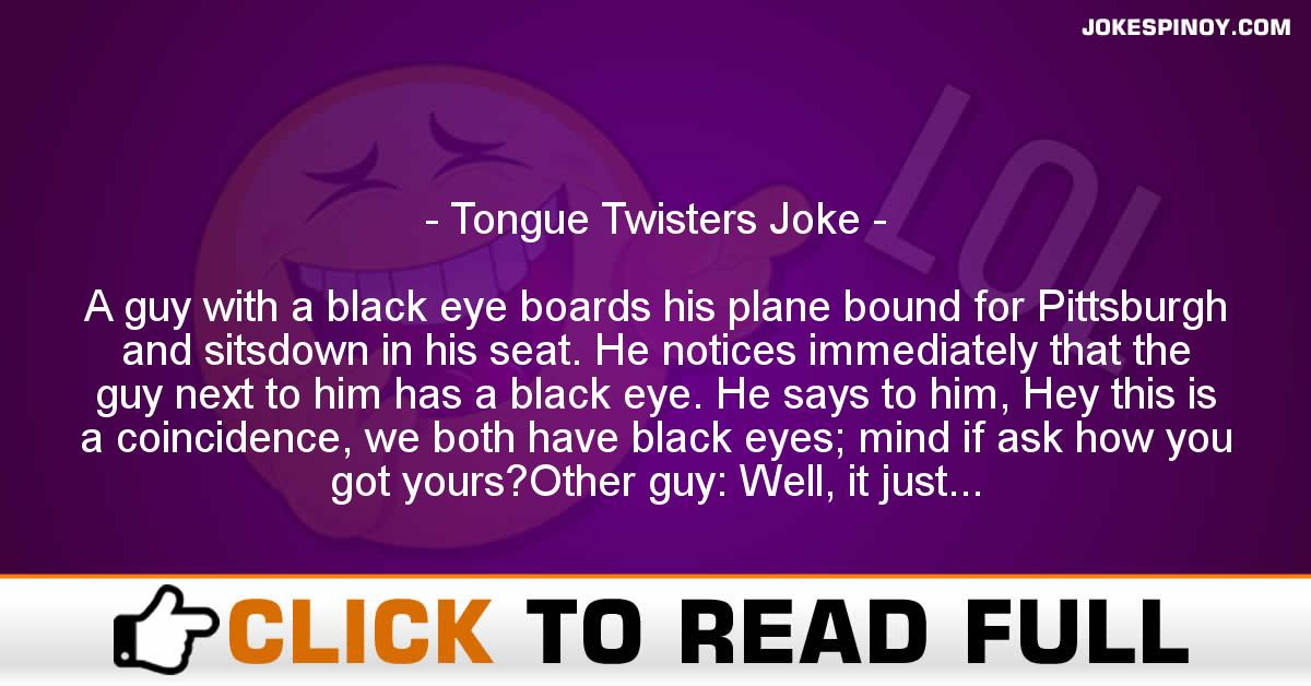 Tongue Twisters Joke