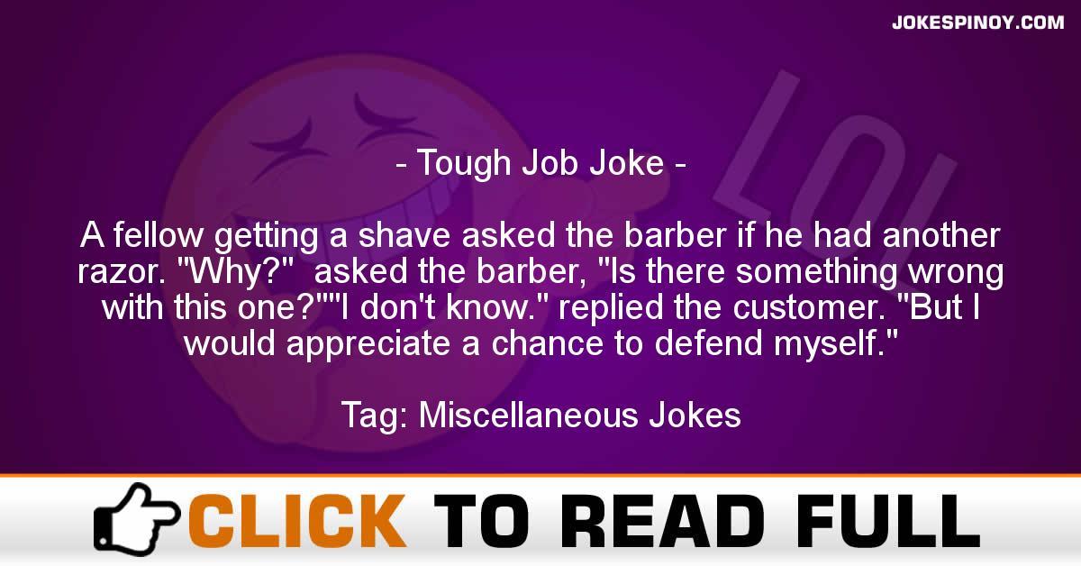 Tough Job Joke