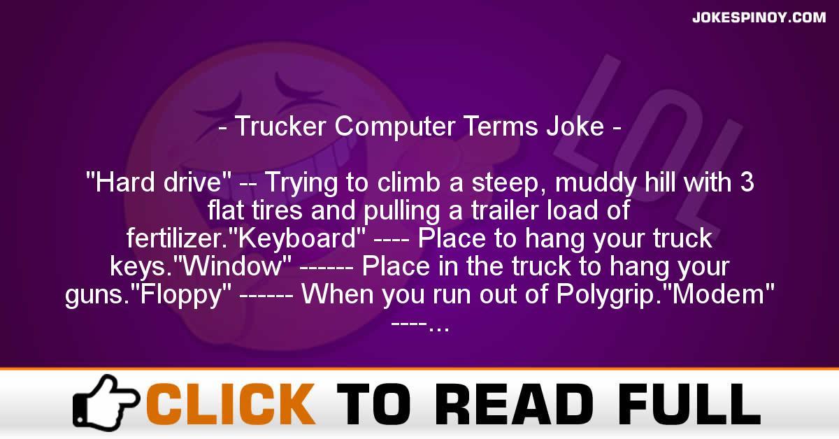 Trucker Computer Terms Joke