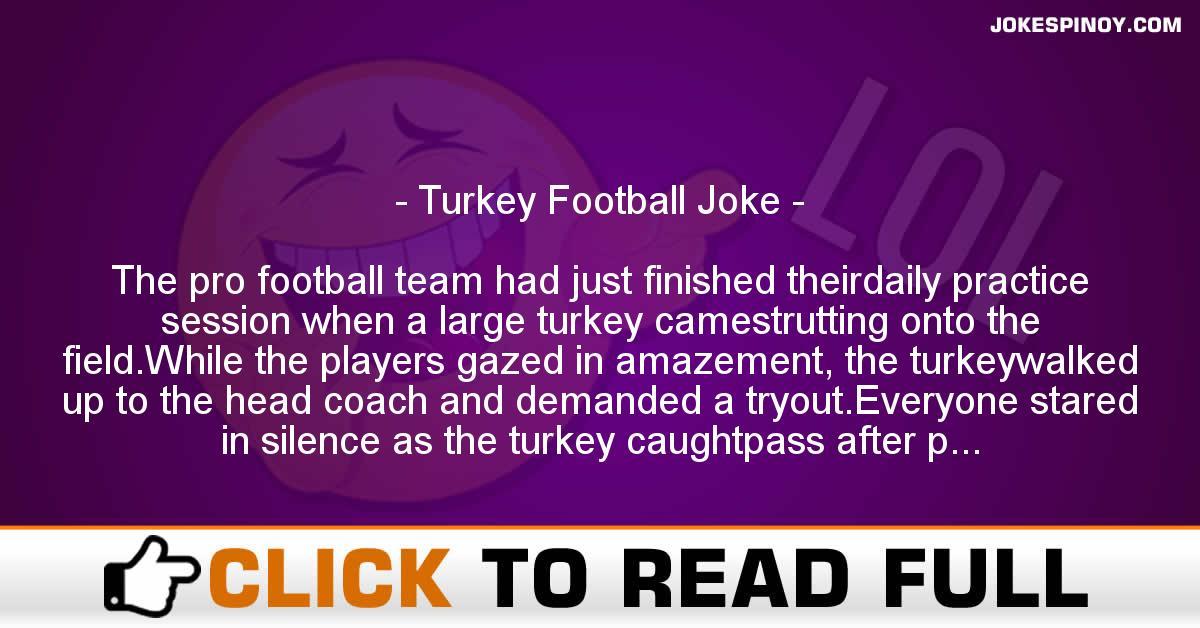 Turkey Football Joke