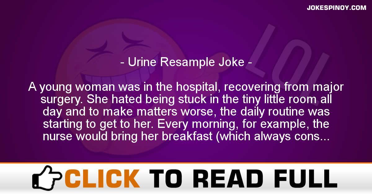 Urine Resample Joke