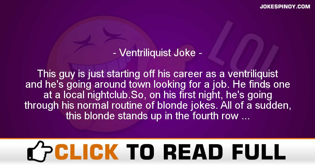 Ventriliquist Joke