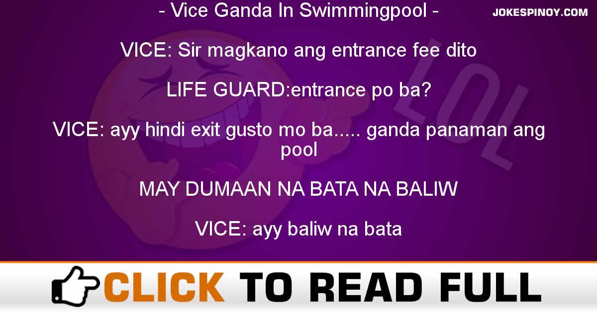 Vice Ganda In Swimmingpool
