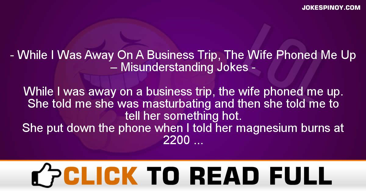 While I Was Away On A Business Trip, The Wife Phoned Me Up – Misunderstanding Jokes