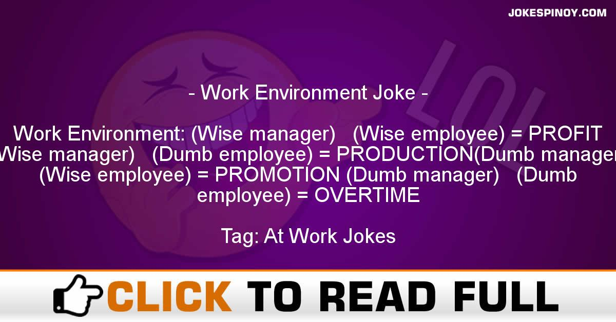 Work Environment Joke