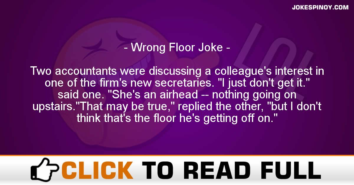 Wrong Floor Joke
