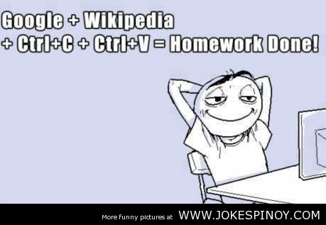Homework Funny Picture