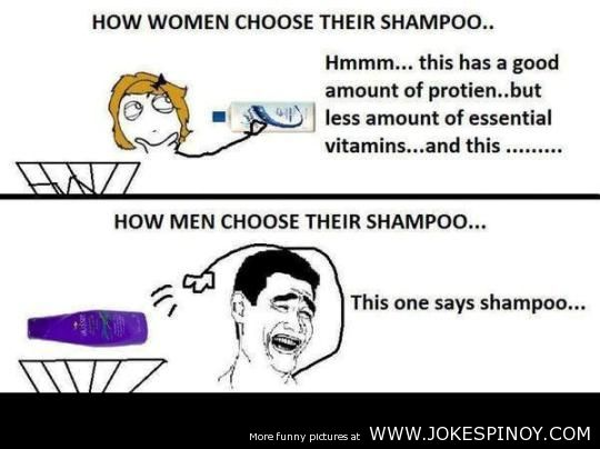 Girls vs Boys in Choosing a Shampoo