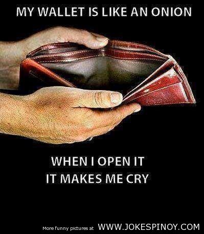 My Wallet is Like an Onion Funny Picture