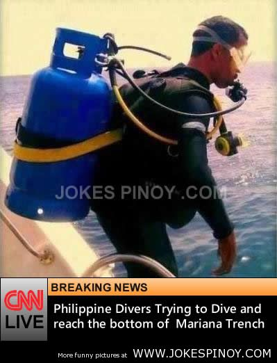 Philippine Divers Trying to Dive and  reach the bottom of  Mariana Trench