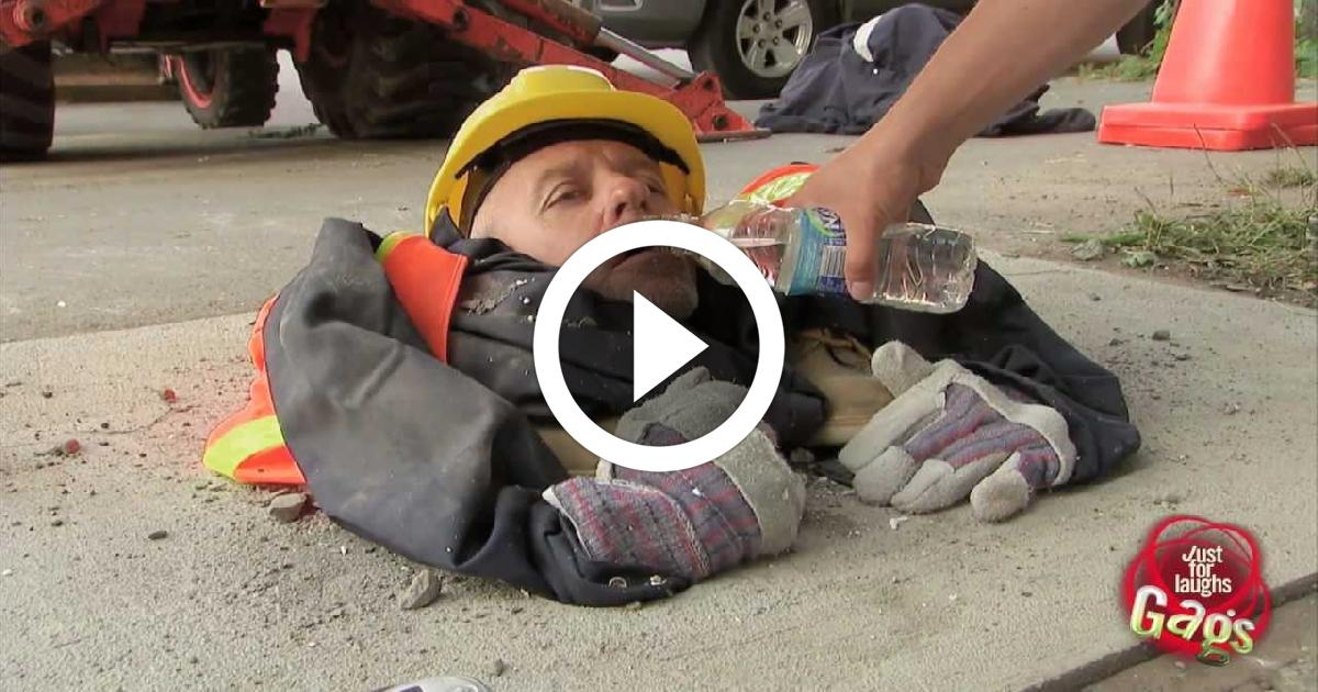 Man Crushed By Cement Prank Funny Video