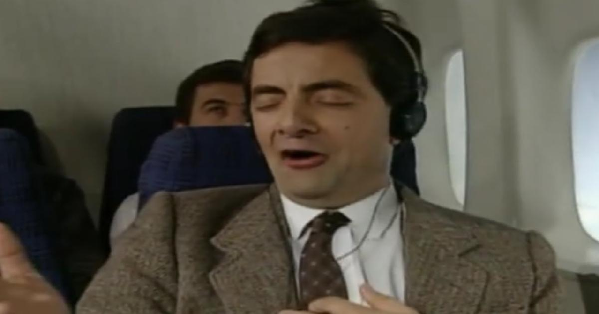 Mr Bean On Plane Funny Video