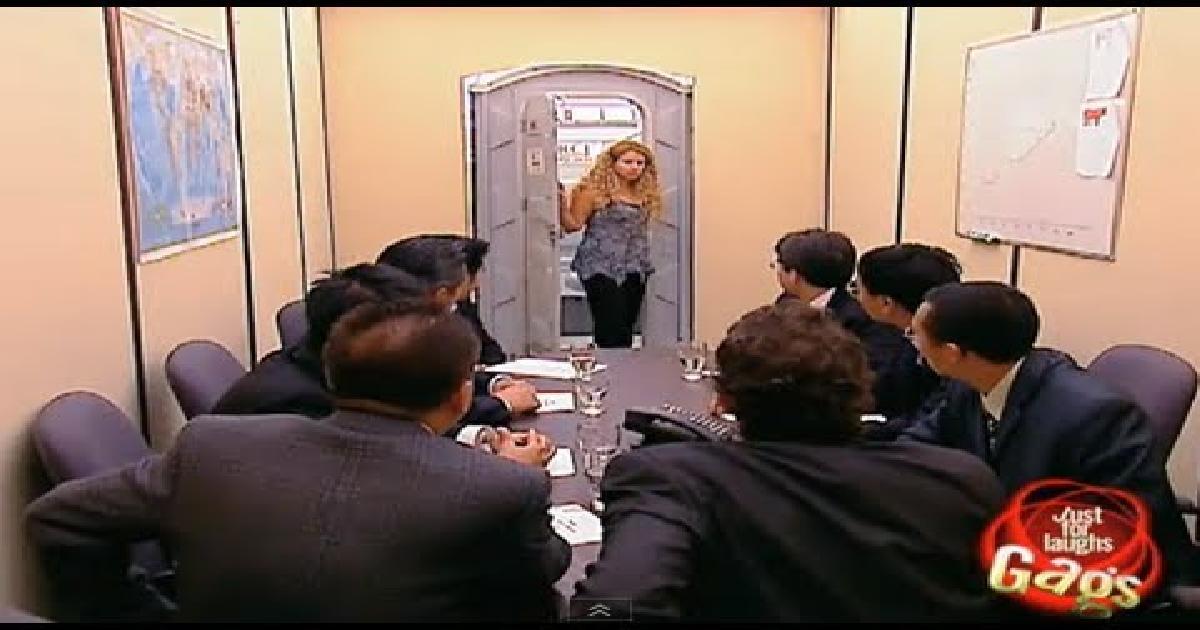 Toilet Boardroom Surprise Prank Funny Video