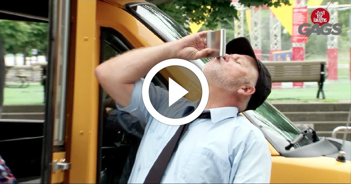 Drunk School Bus Driver Funny Video