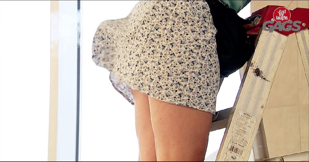 Girl In Dress Farts In Stranger's Face Funny Prank Video